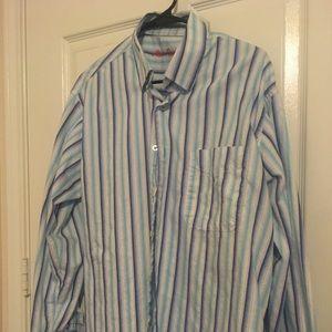 🔵 3/$15 Alan Flusser Men's L/S Shirt size large L